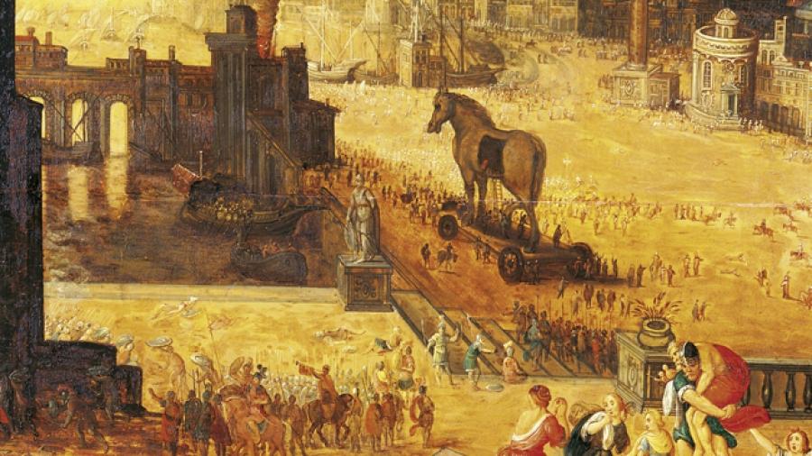 Los dioses en la guerra de Troya